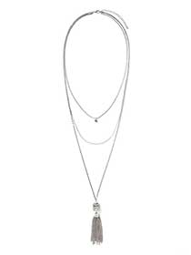 Multi-Chain Necklace with Chain Tassel