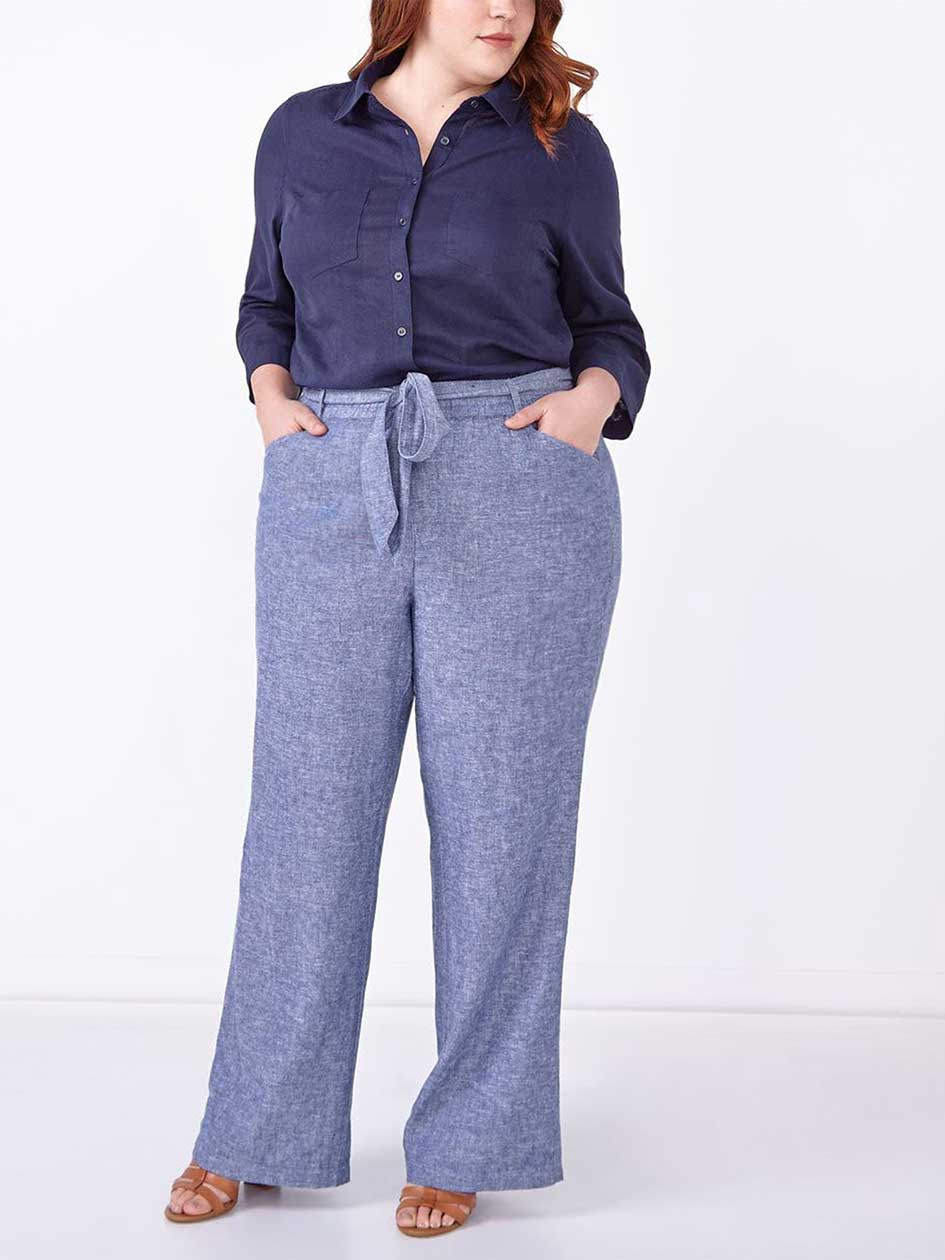 Pull On Linen Pant