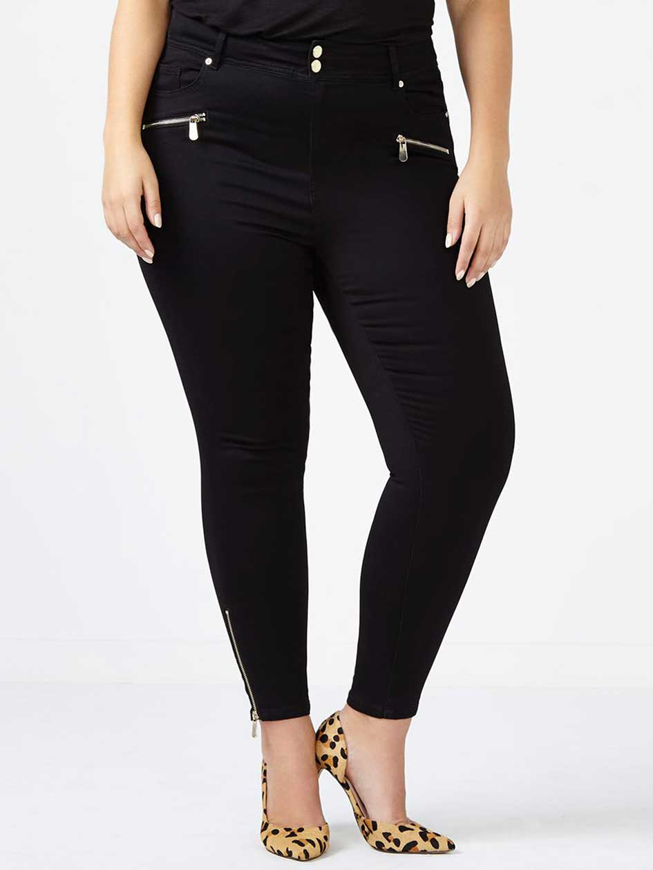 d/c JEANS - Straight Fit High Rise Skinny Jean