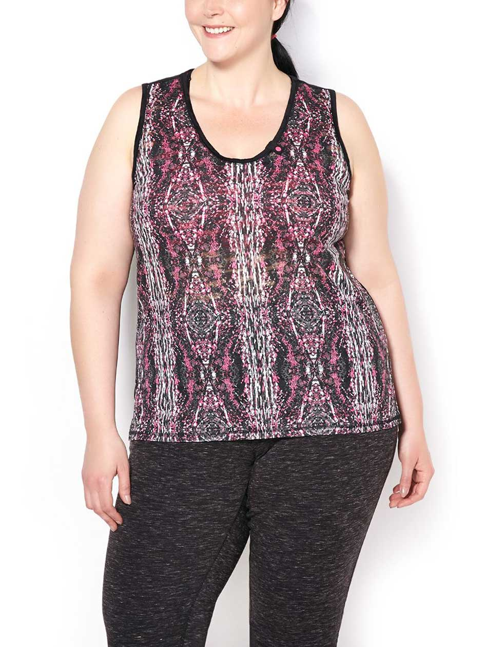 ActiveZone Weekend Collection Plus-Size Printed Tank Top