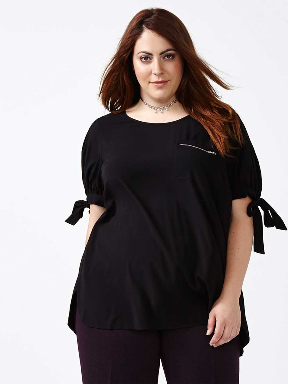 Knotted Short Sleeve Blouse