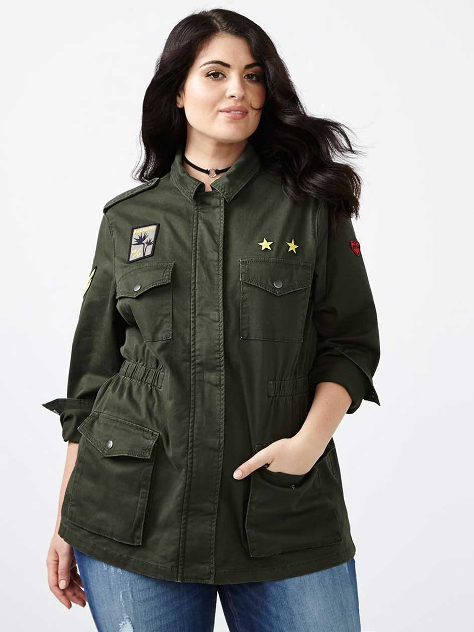 MELISSA McCARTHY Military Jacket with Patches