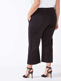 Straight Fit Cropped Wide Leg Pant