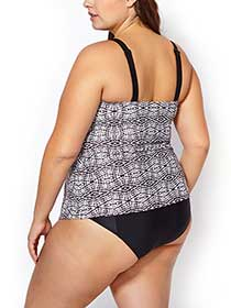 Sea - Printed Layered Tankini Swim Top