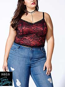 Tess Holliday - Cropped Lace Cami