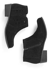 Wide-Width Booties with Cut-Outs