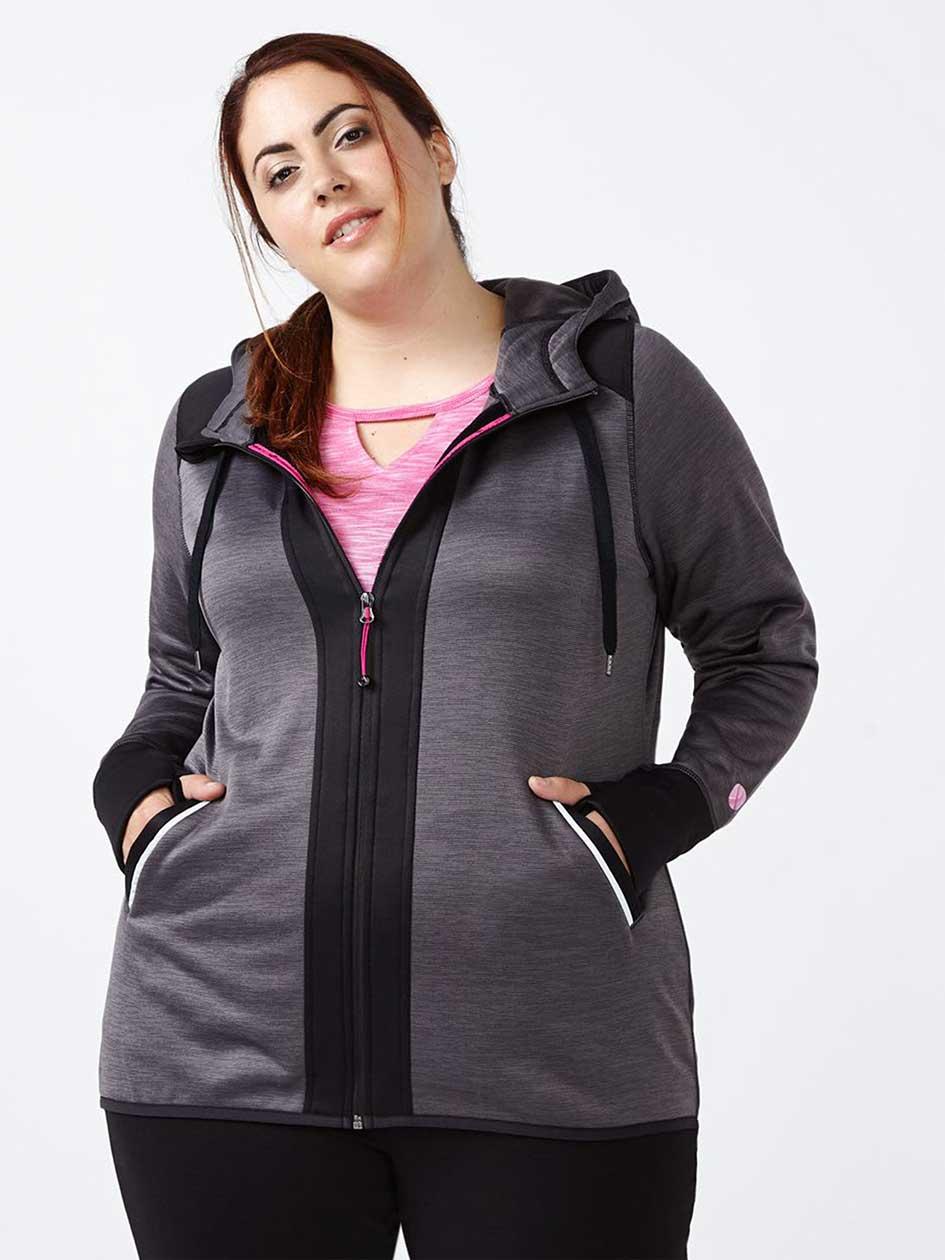 Essentials - Plus-Size Fleece Hooded Jacket