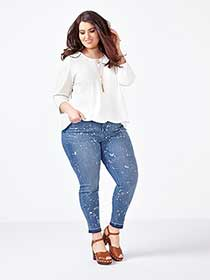 MELISSA McCARTHY Bleached Pencil Jean