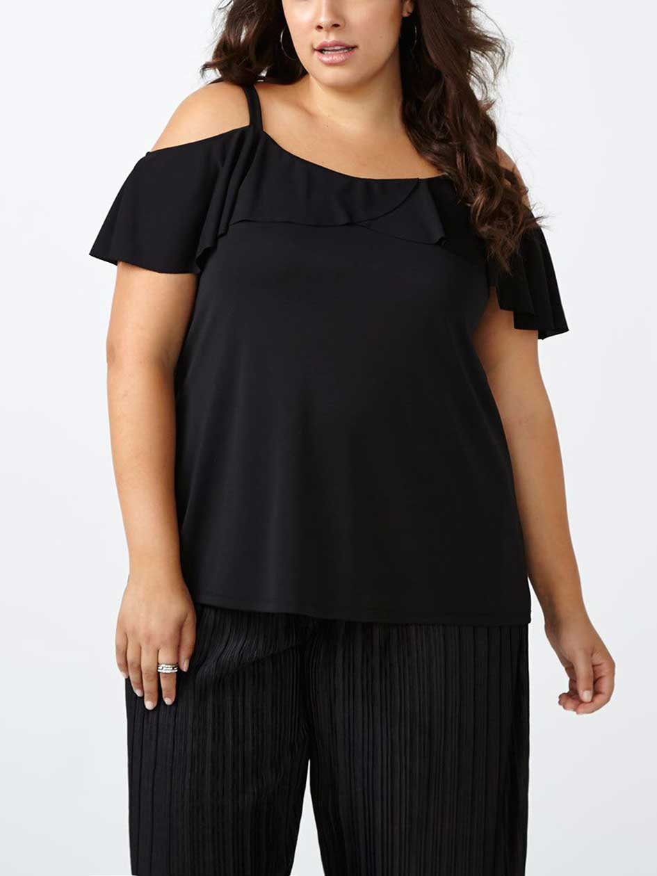 Ruffled Off Shoulder Top