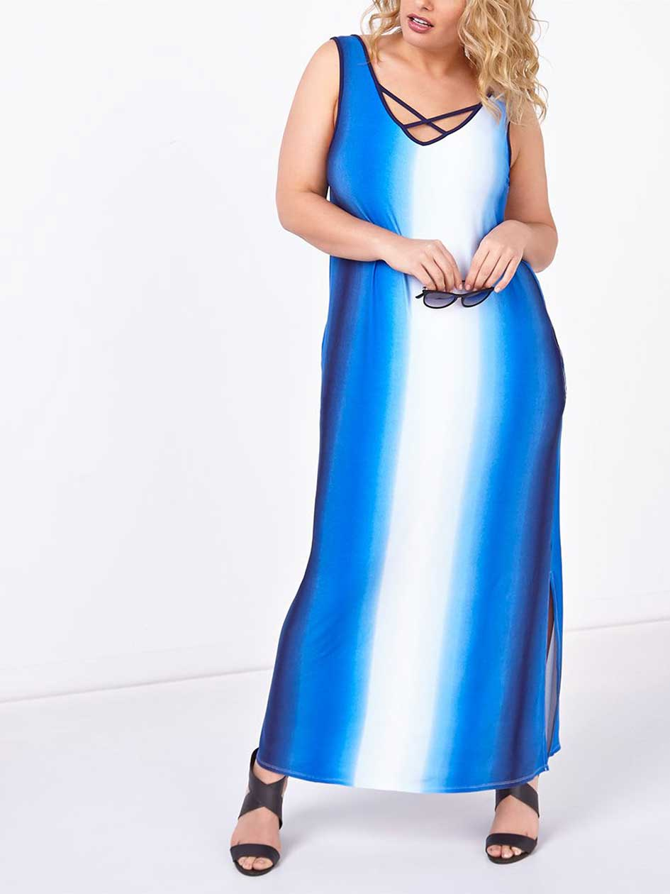 d/c JEANS Sleeveless Printed Maxi Dress