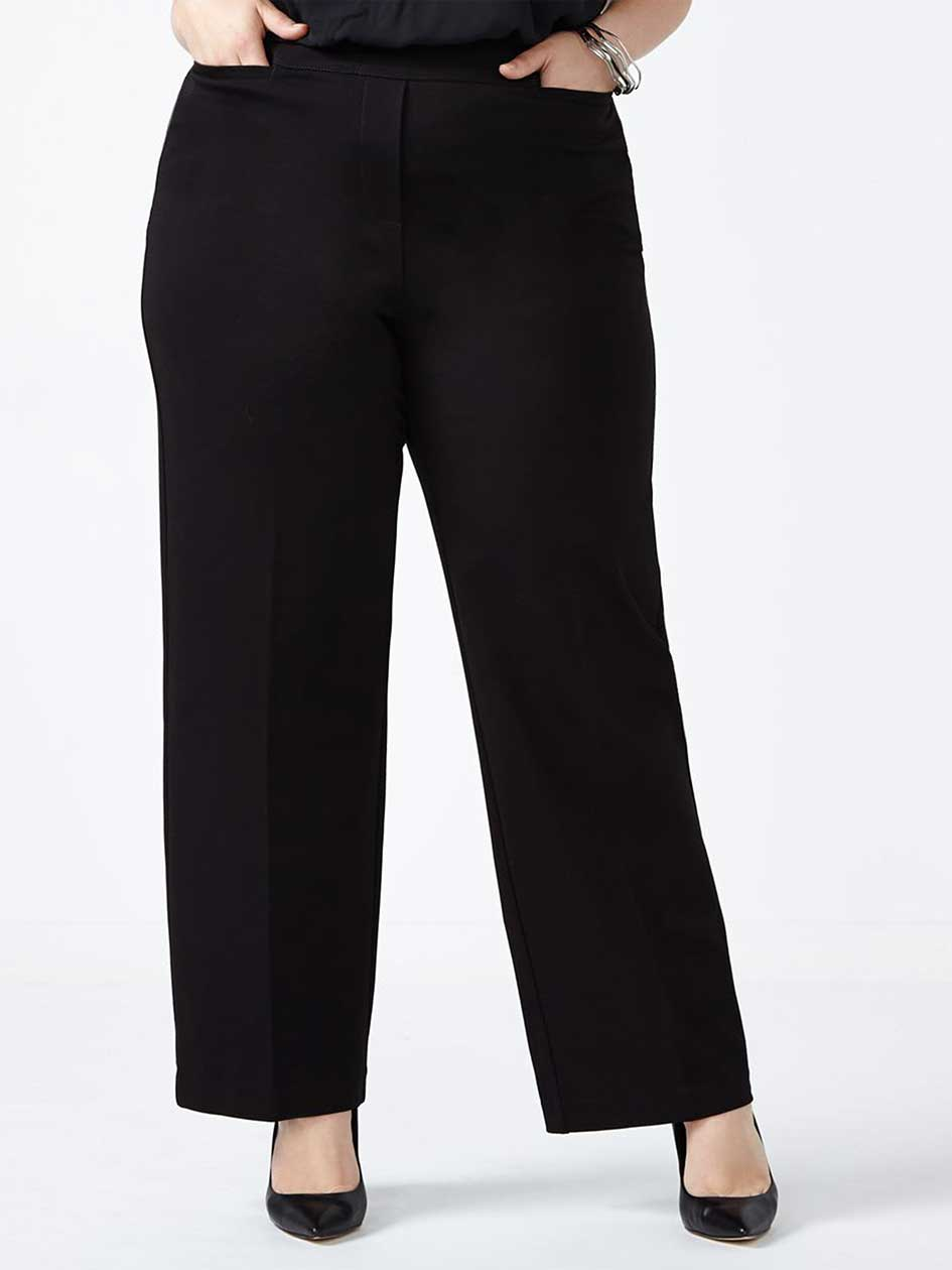 ONLINE ONLY Tall Savvy Wide Leg Ponte de Roma Pant