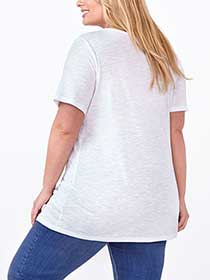 Shaped Fit Lace Front T-Shirt