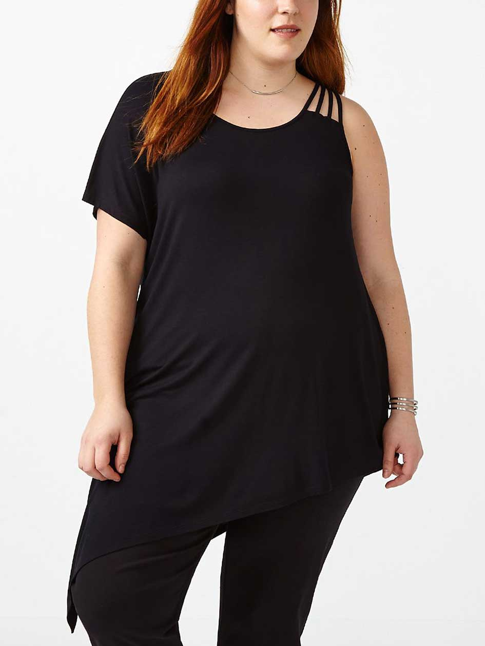 Asymmetric Tunic with Side Straps
