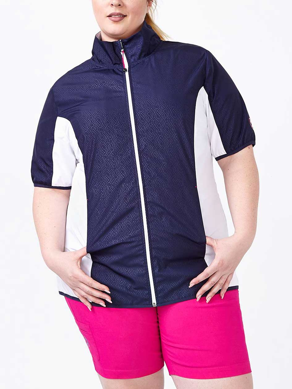 Sports - Plus-Size Short Sleeve Golf Jacket