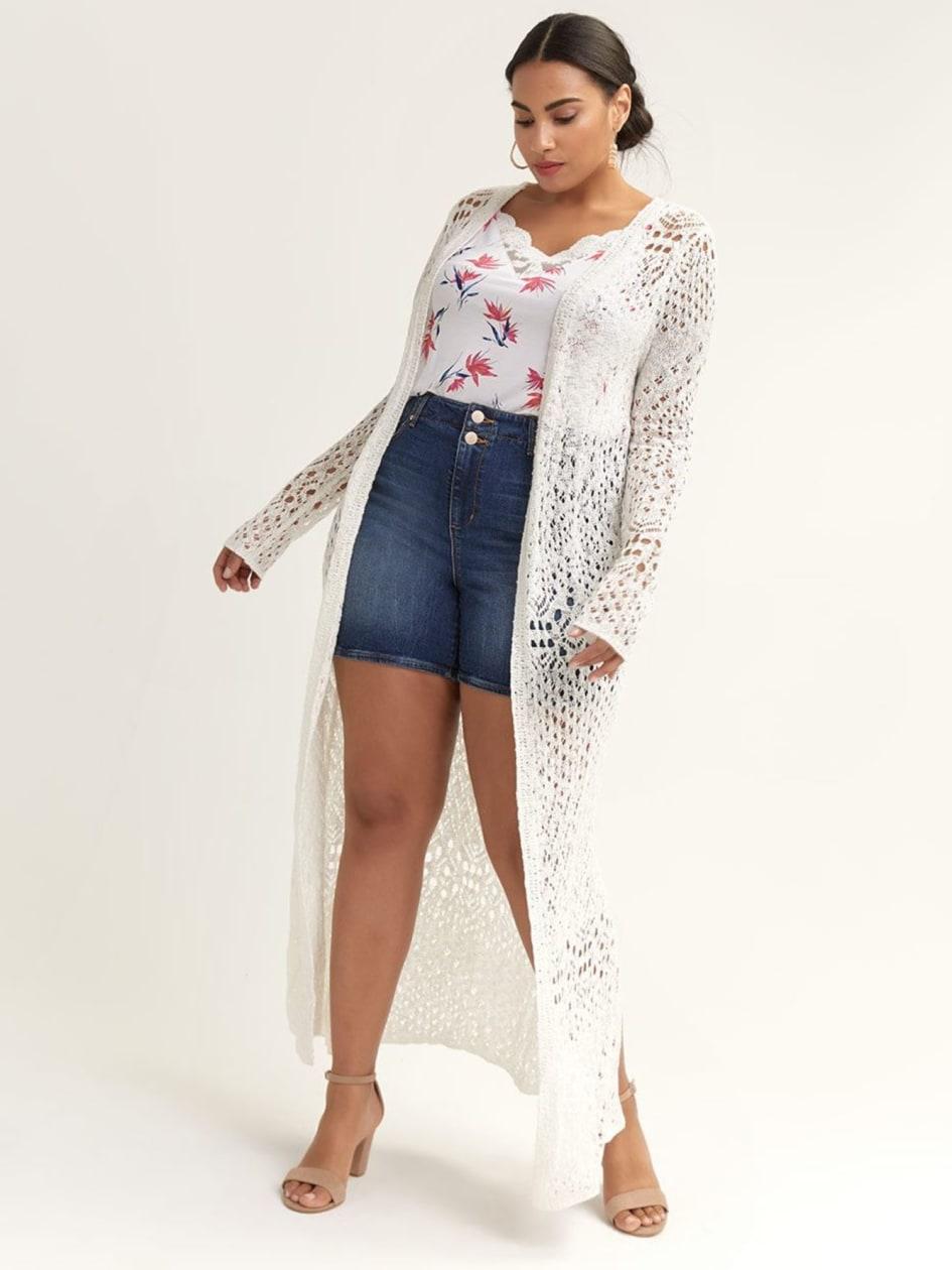 a3571ec2c5 Long Crochet Cardigan - Silver Jeans