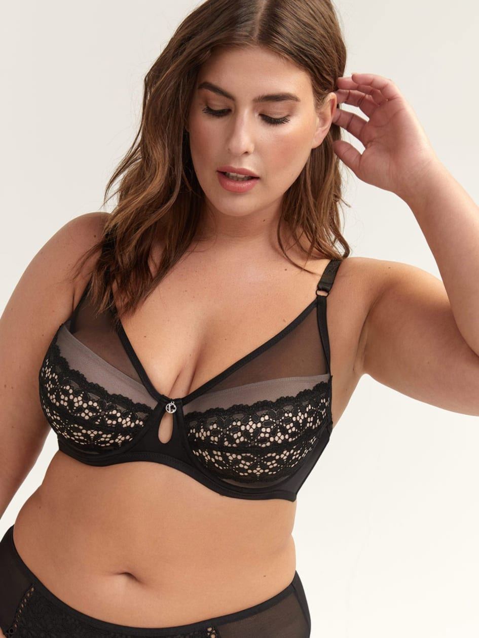 Diva Bra with Voile & Lace - Ashley Graham