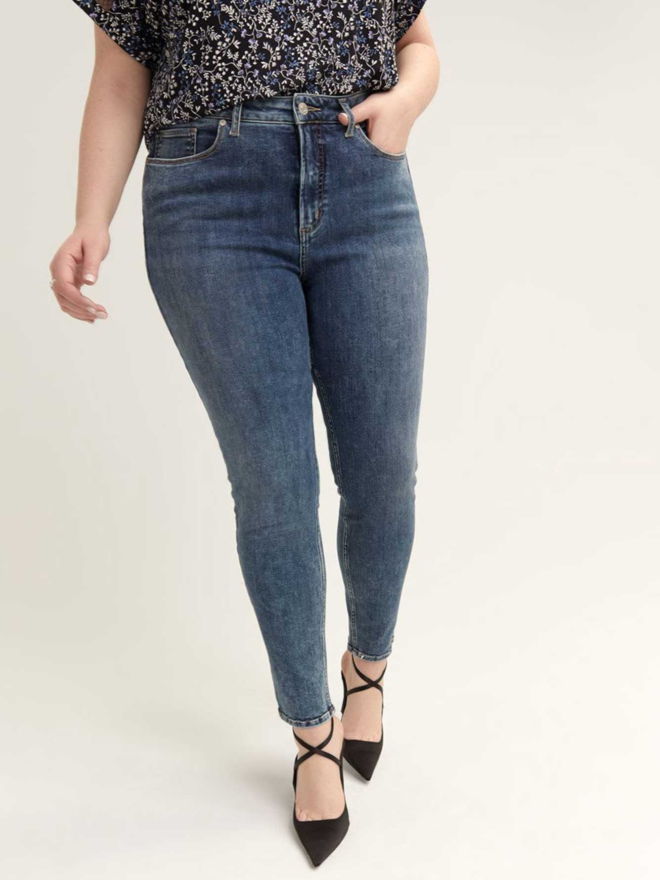 High Note Skinny Jeans - Silver Jeans