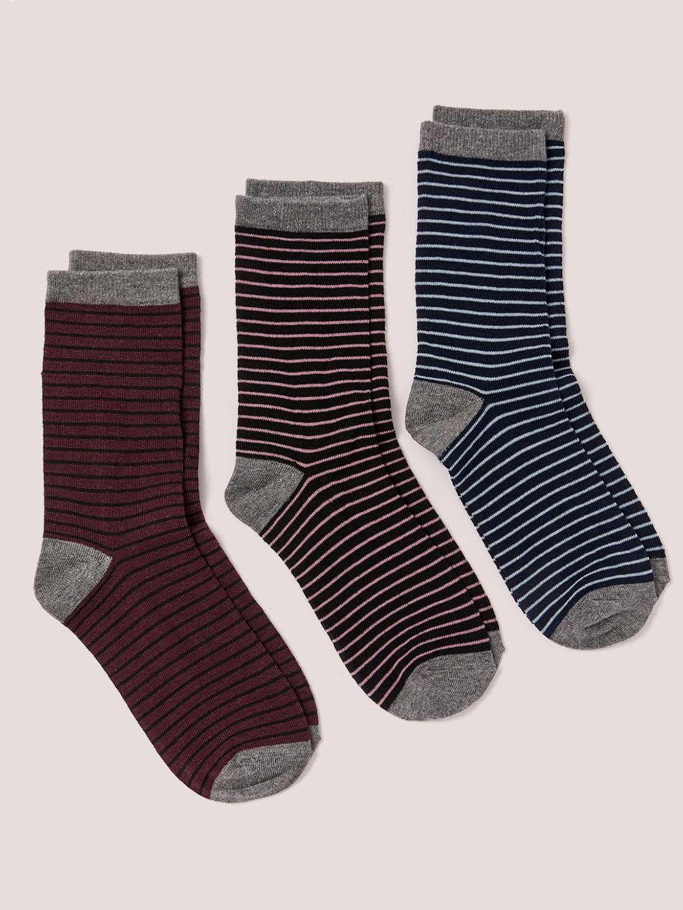 d263ea2466 Striped Socks - 3 Pack | Addition Elle