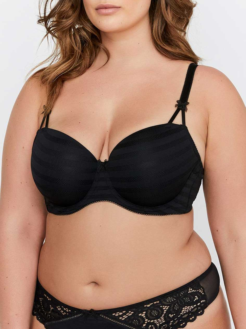 Basic Shadow Stripe Balconette Bra - Déesse Collection