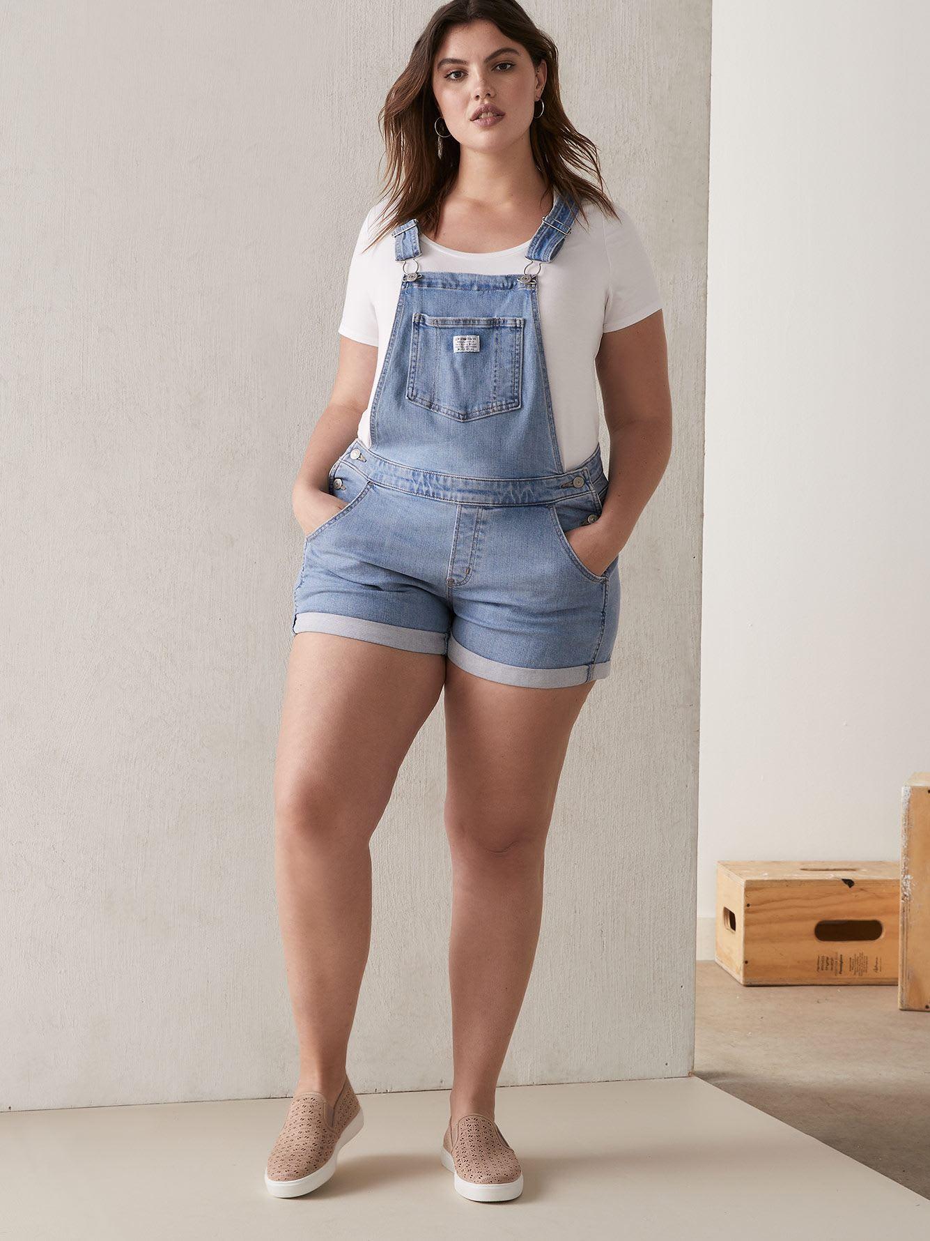 707fe706f4be Short Denim Overalls in Sunbather - Levi's   Addition Elle