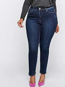 Curvy Authentic Dark Wash Skinny Jeans - L&L