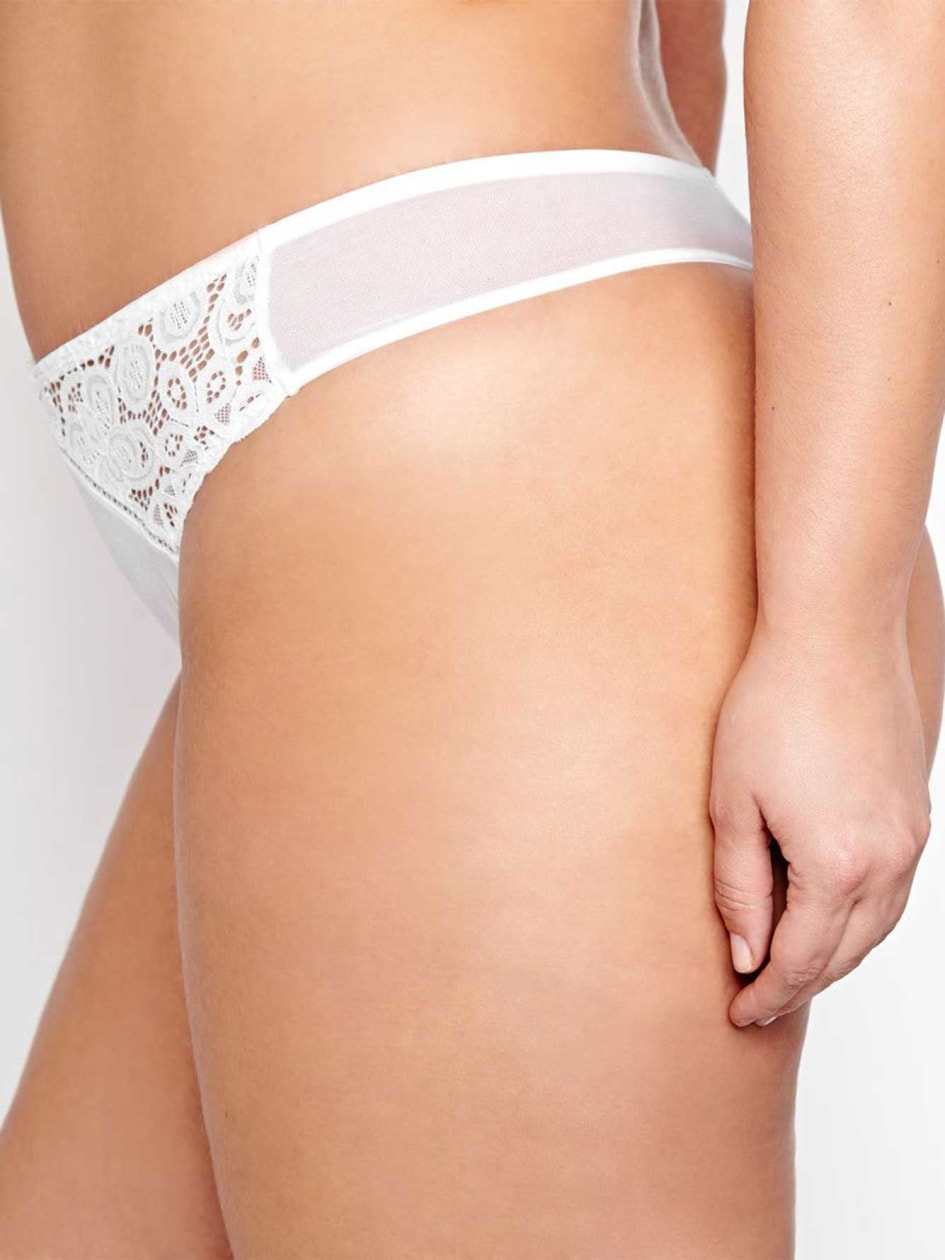 White Lace Thong - Déesse Collection
