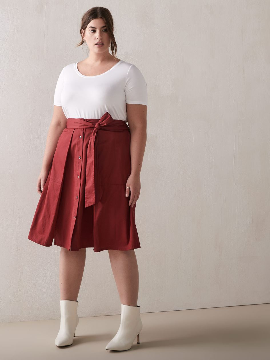 RACHEL Rachel Roy Neo - Button & Tie-Front Skirt