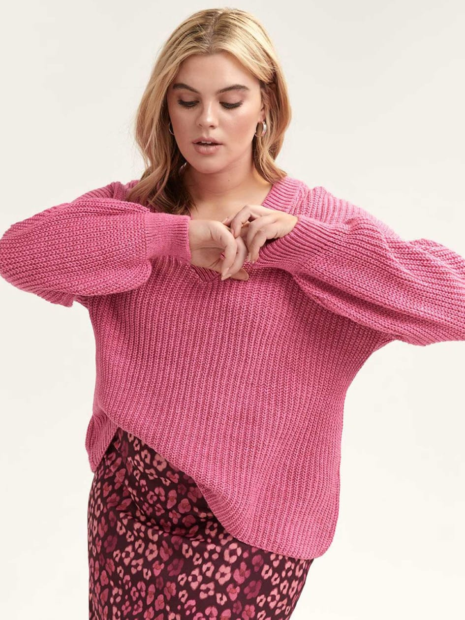 c47f9864f70 Oversized Sweater with Blouson-Sleeves - Lost Ink
