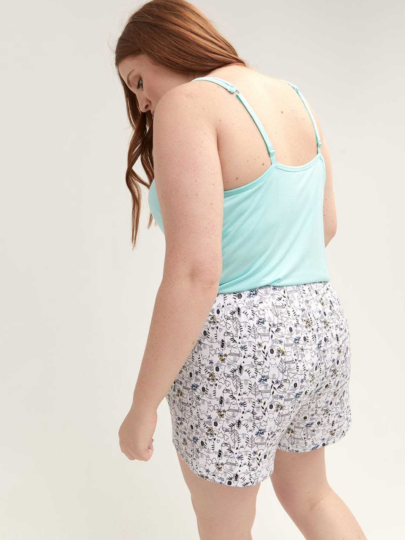 Printed Lounge Shorts - Déesse Collection