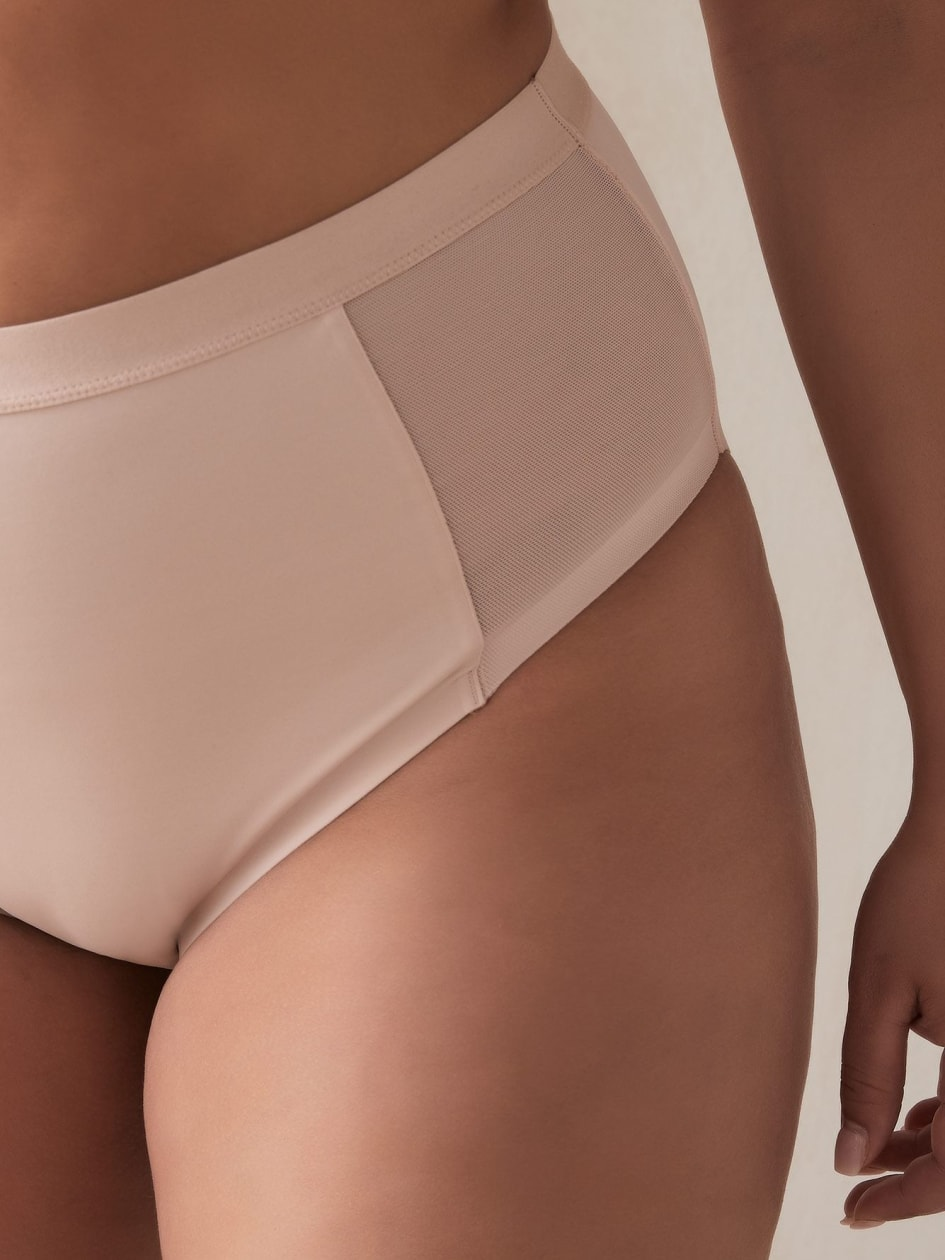 Control Brief Panty with Mesh - Déesse Collection