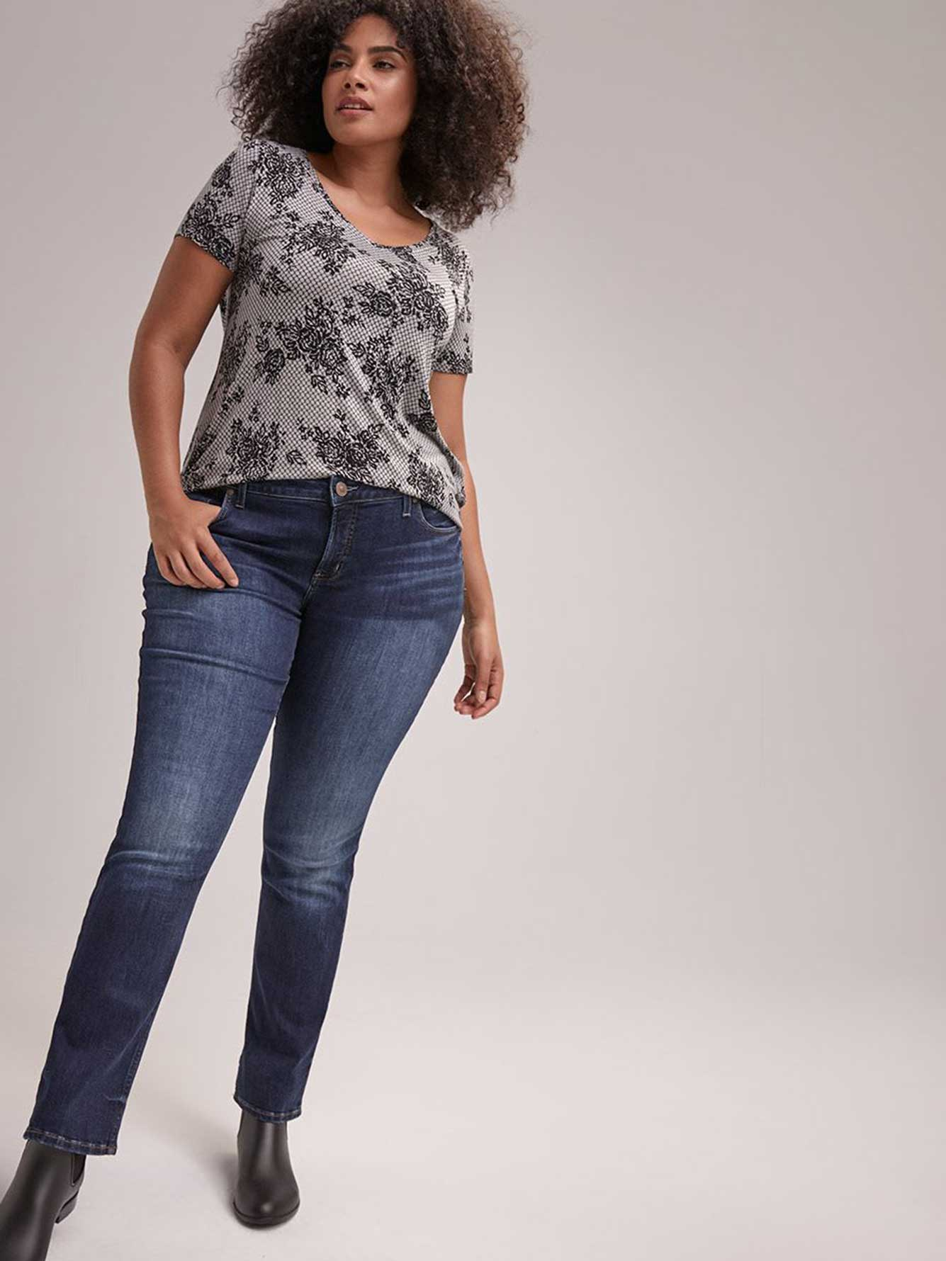 Straight Jeans - Silver Elyse