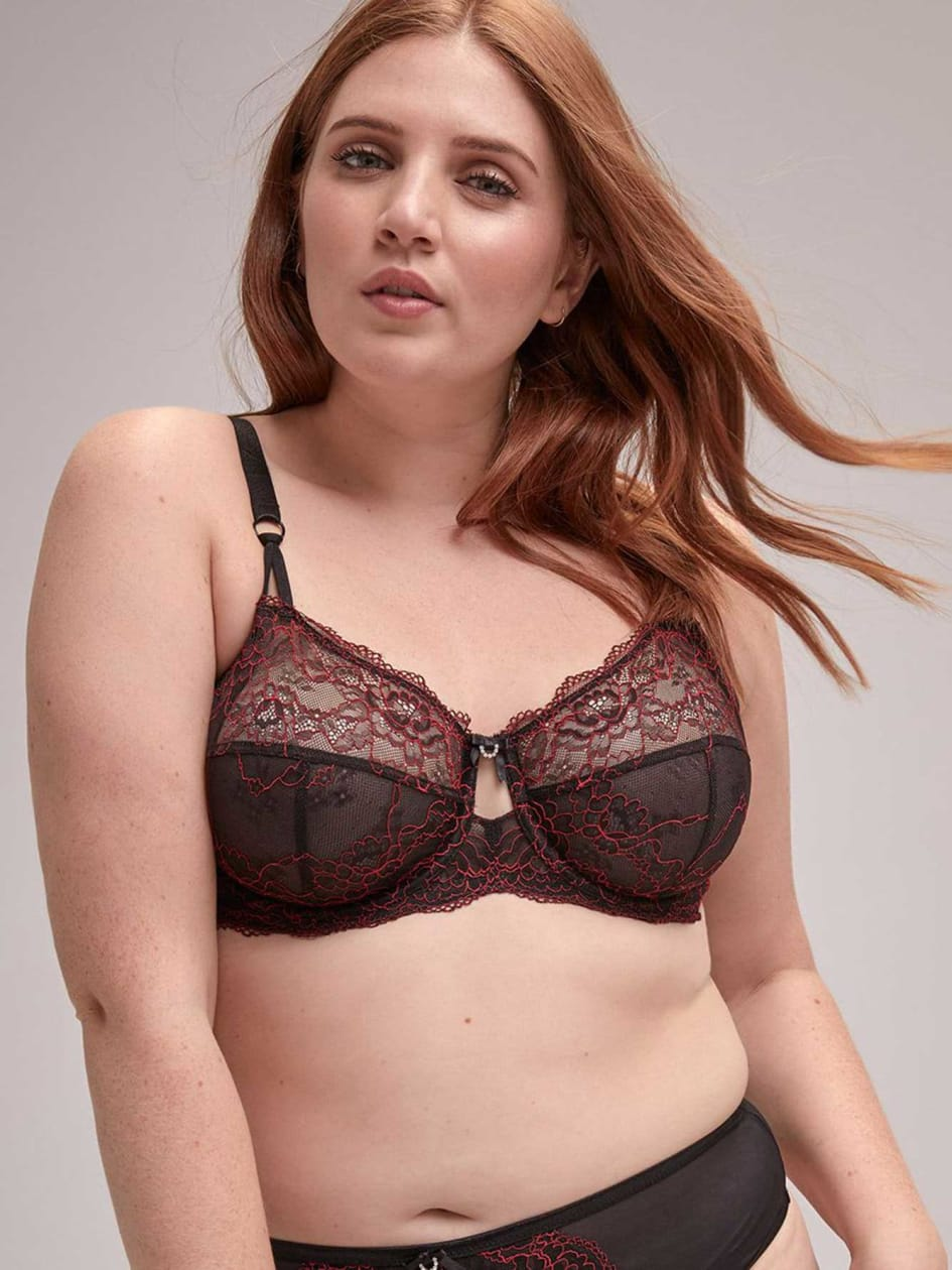 0403afea3c Femme Couture Bra with Contrasting Lace - Déesse Collection