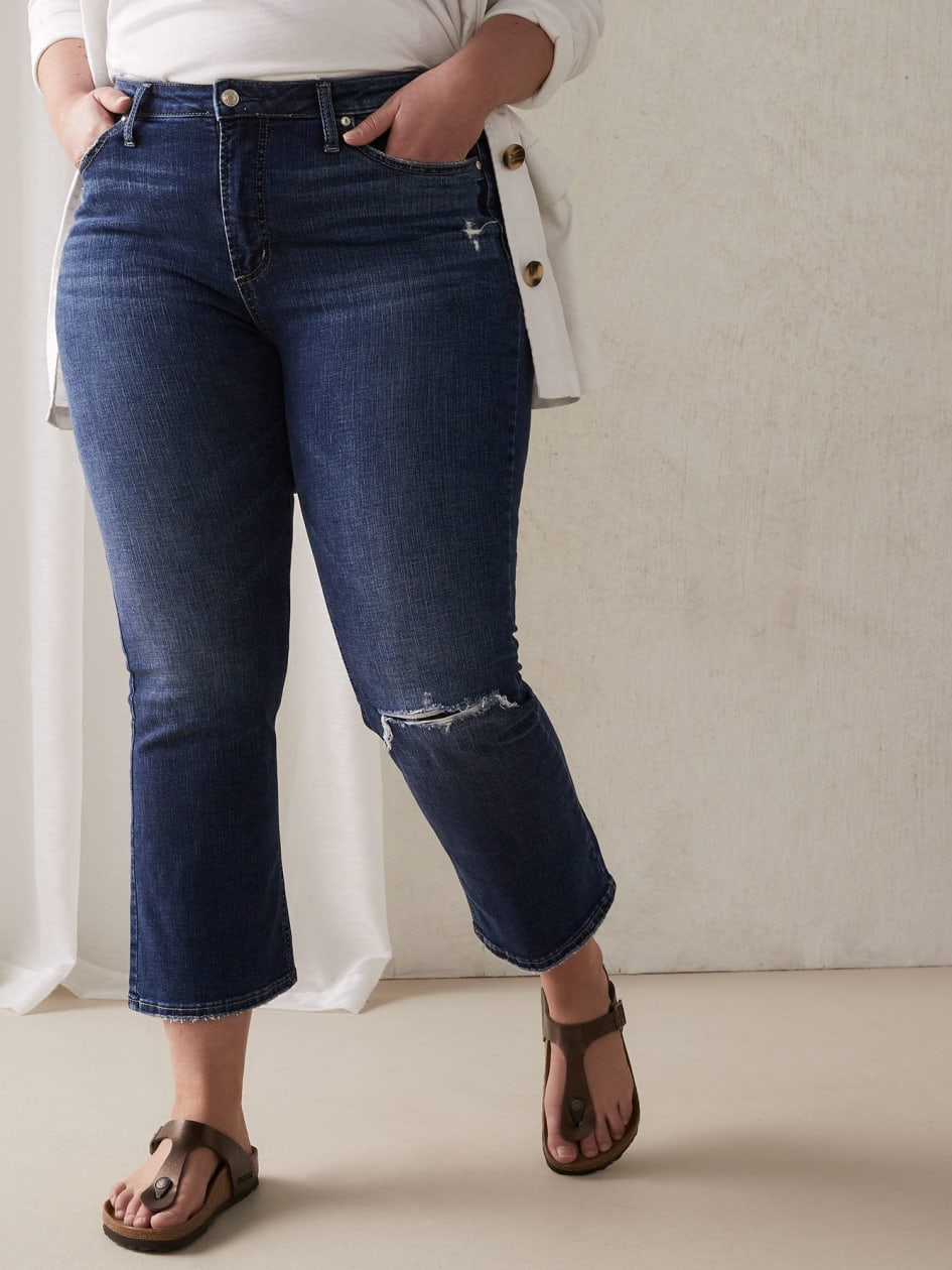 2f90f22bbc3 High Note Cropped Jean - Silver Jeans