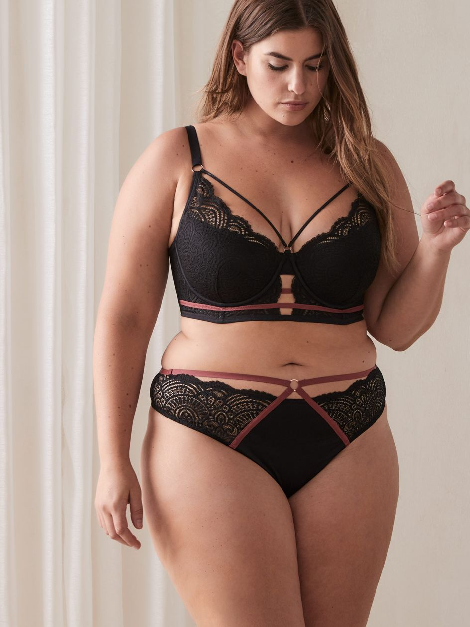 Ashley Graham - Long Line Diva Bra with Lace