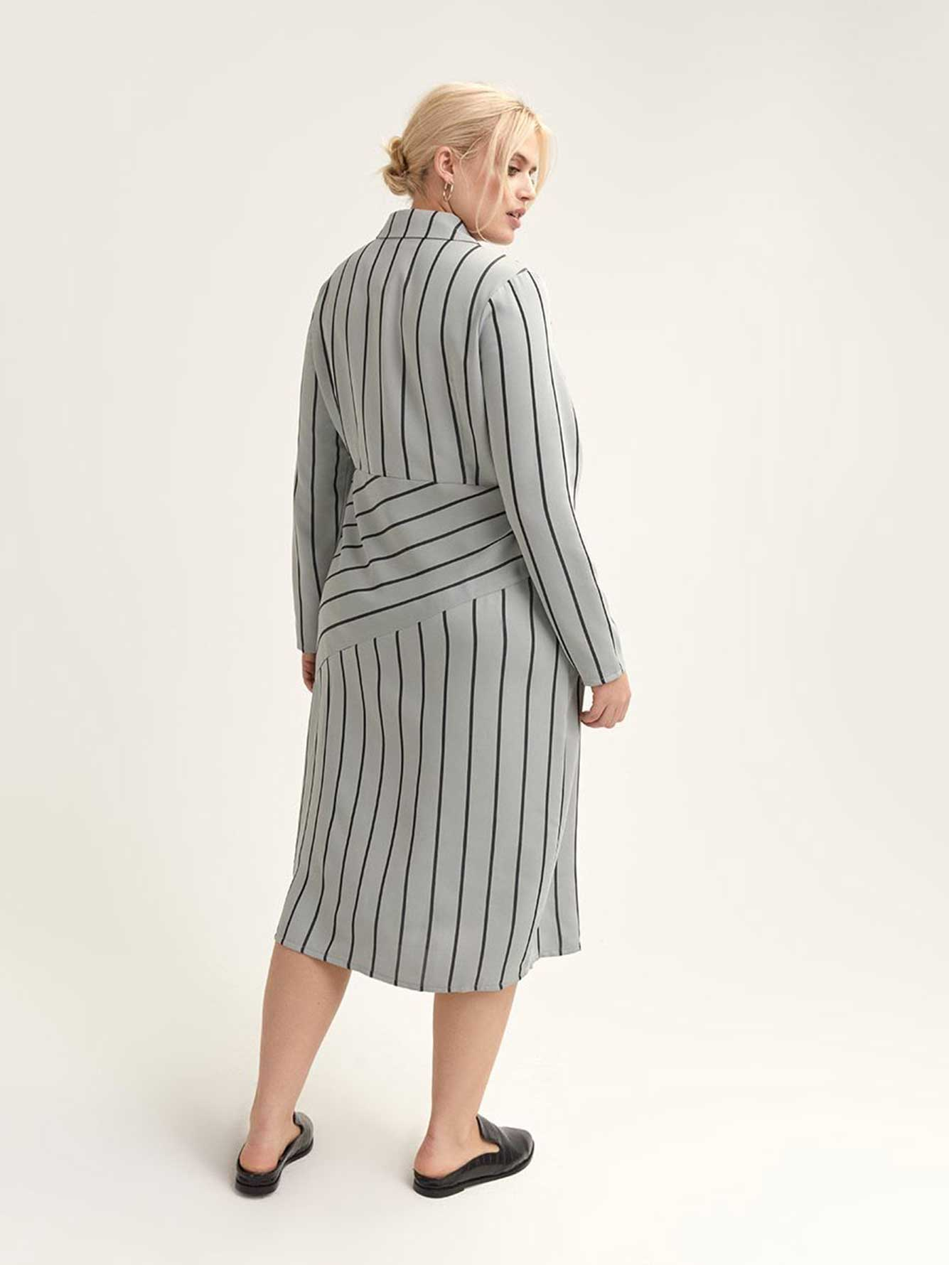d8ec504e4b74a Shirt Dress in Mint Stripe - Lost Ink | Addition Elle