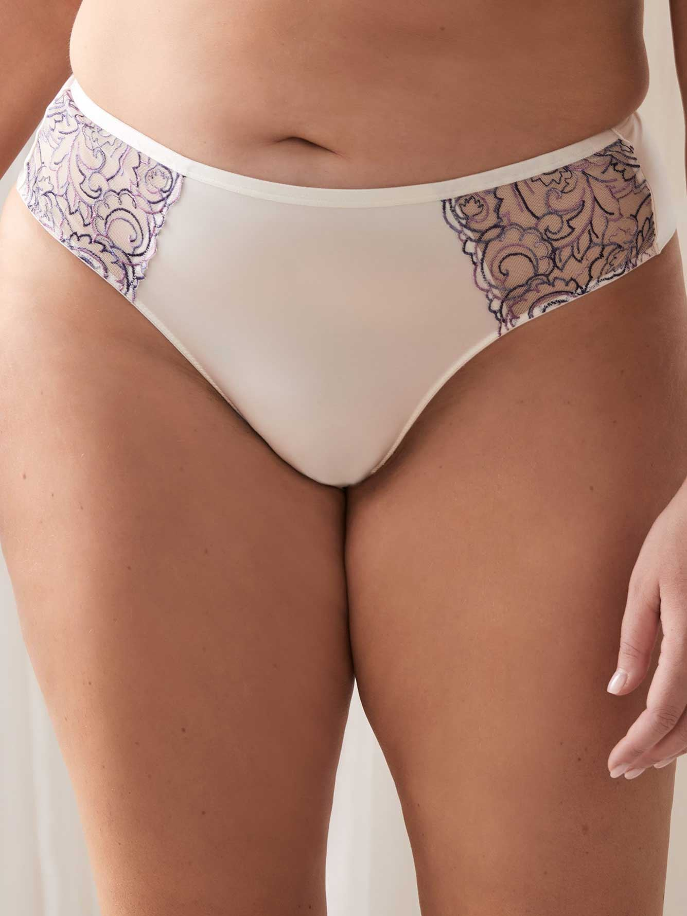 Embroidered Thong Panty