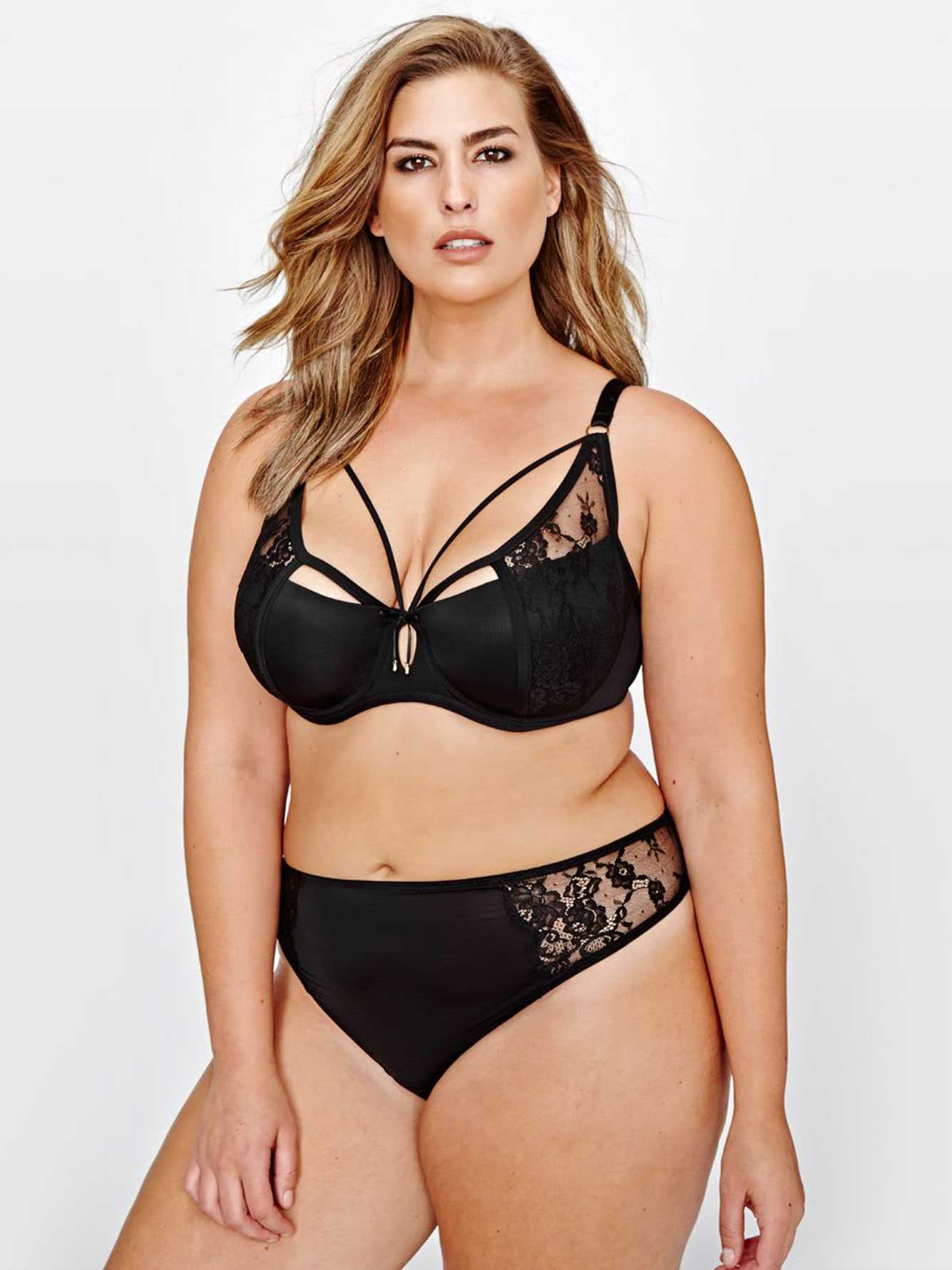 5836729fbb861 Ashley Graham Diva Lace   Straps Bra with Front Strap