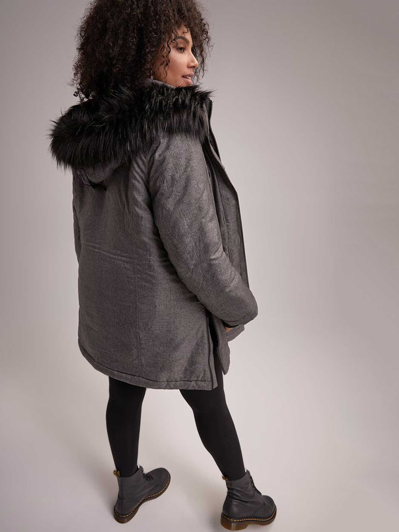 cd8bed5d656 Faux Fur Hooded City Parka - LIVIK