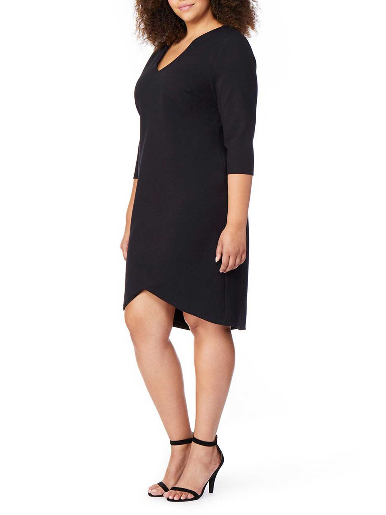 Faux Collar Fitted Dress - Rebel Wilson
