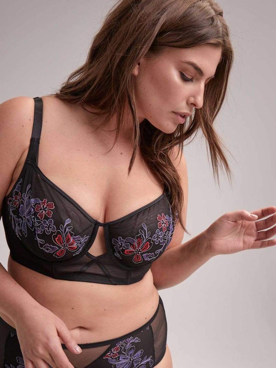 6e972aa115 Non Padded Long Line Bra - Déesse Collection