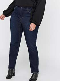 Petite Shaping Slim Leg Curvy Denim - L&L