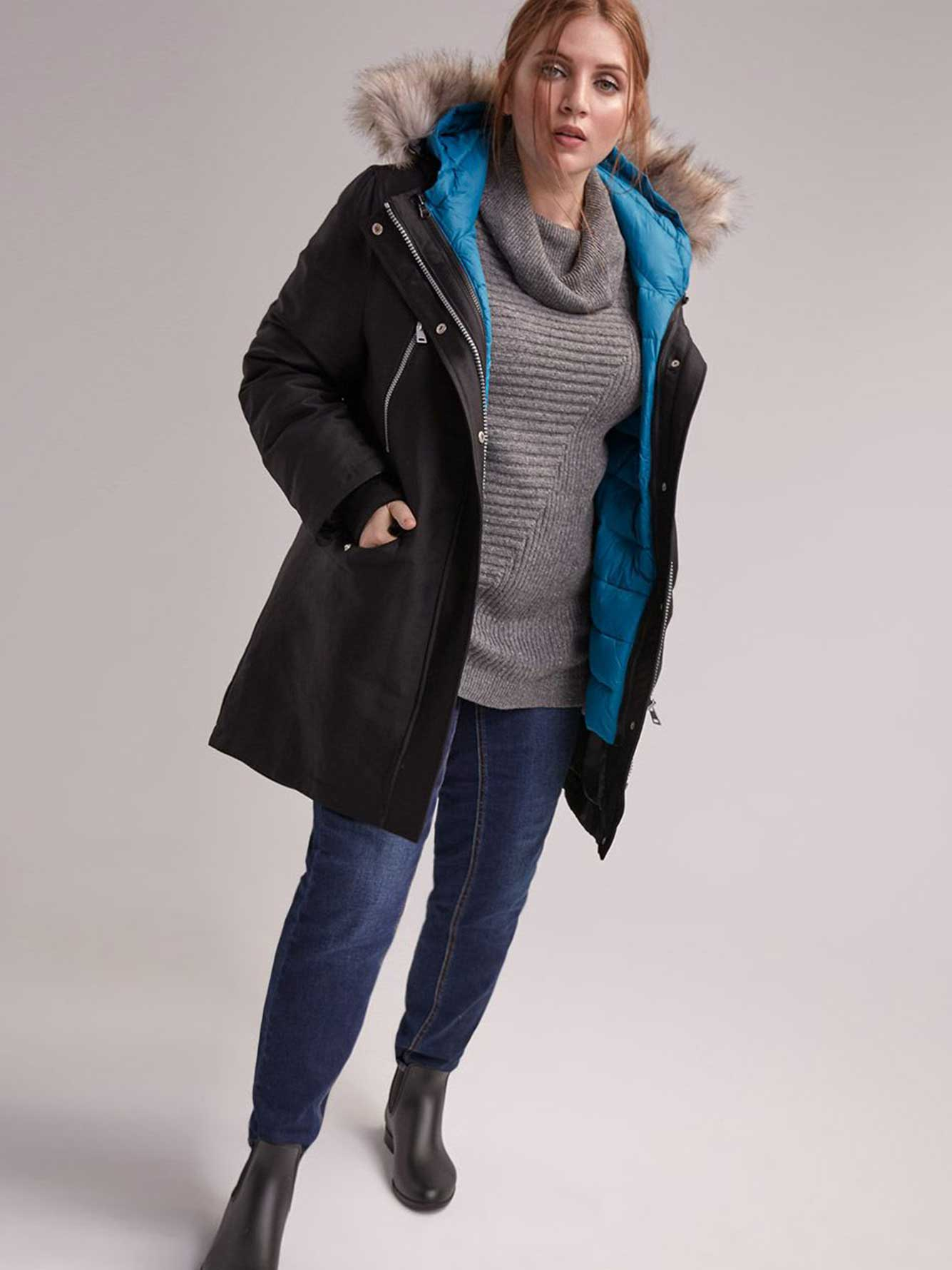 c0eac001e 3-1 Fur Hooded Parka with Concealed Packable Jacket - Livik