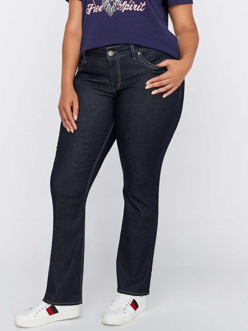 56f79c83cf9 Slim Bootcut Clean Jeans - Silver Suki