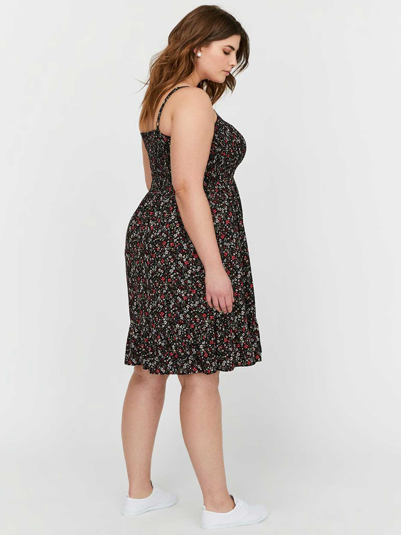 Michel Studio Fit & Flared Printed Smock Dress