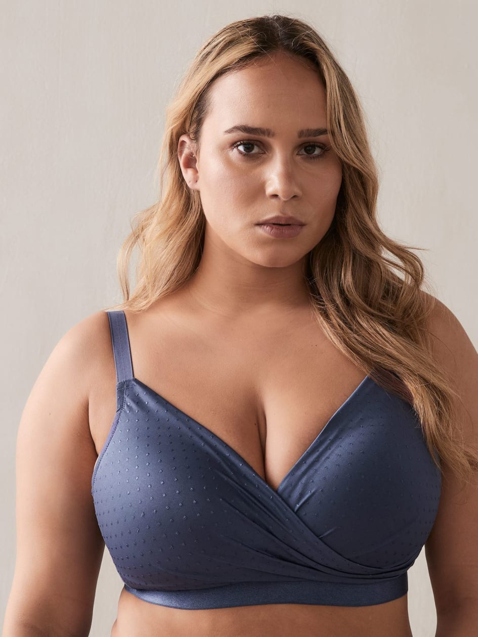 Crossover Lounge Bra, G & H Cups - Déesse Collection