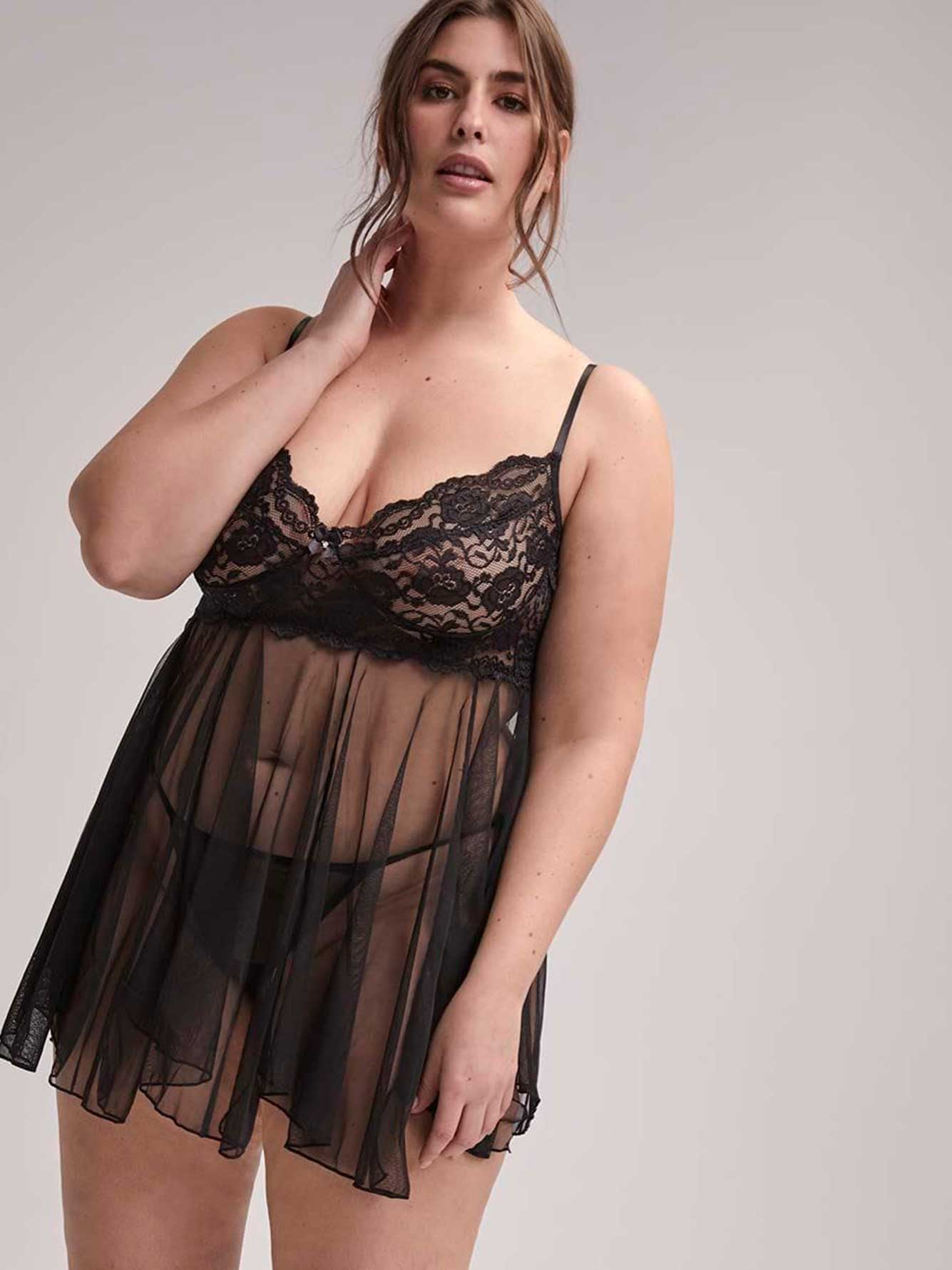 5111ff1e1a39 Shirley of Hollywood Lace Babydoll | Addition Elle