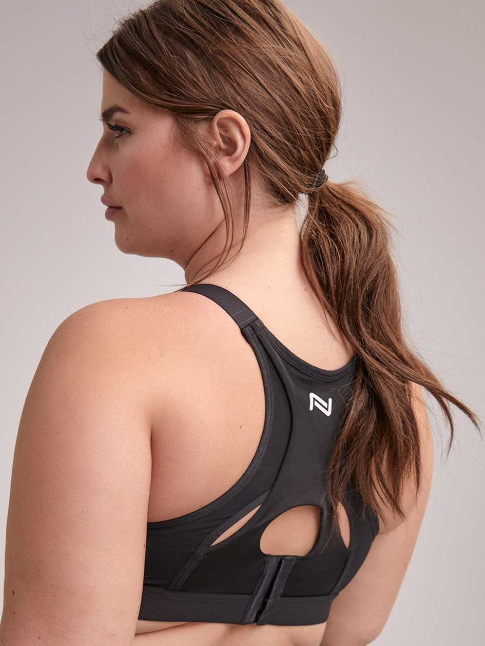 Non Padded Faux-Wrap Sports Bra, Sizes G & H - Nola