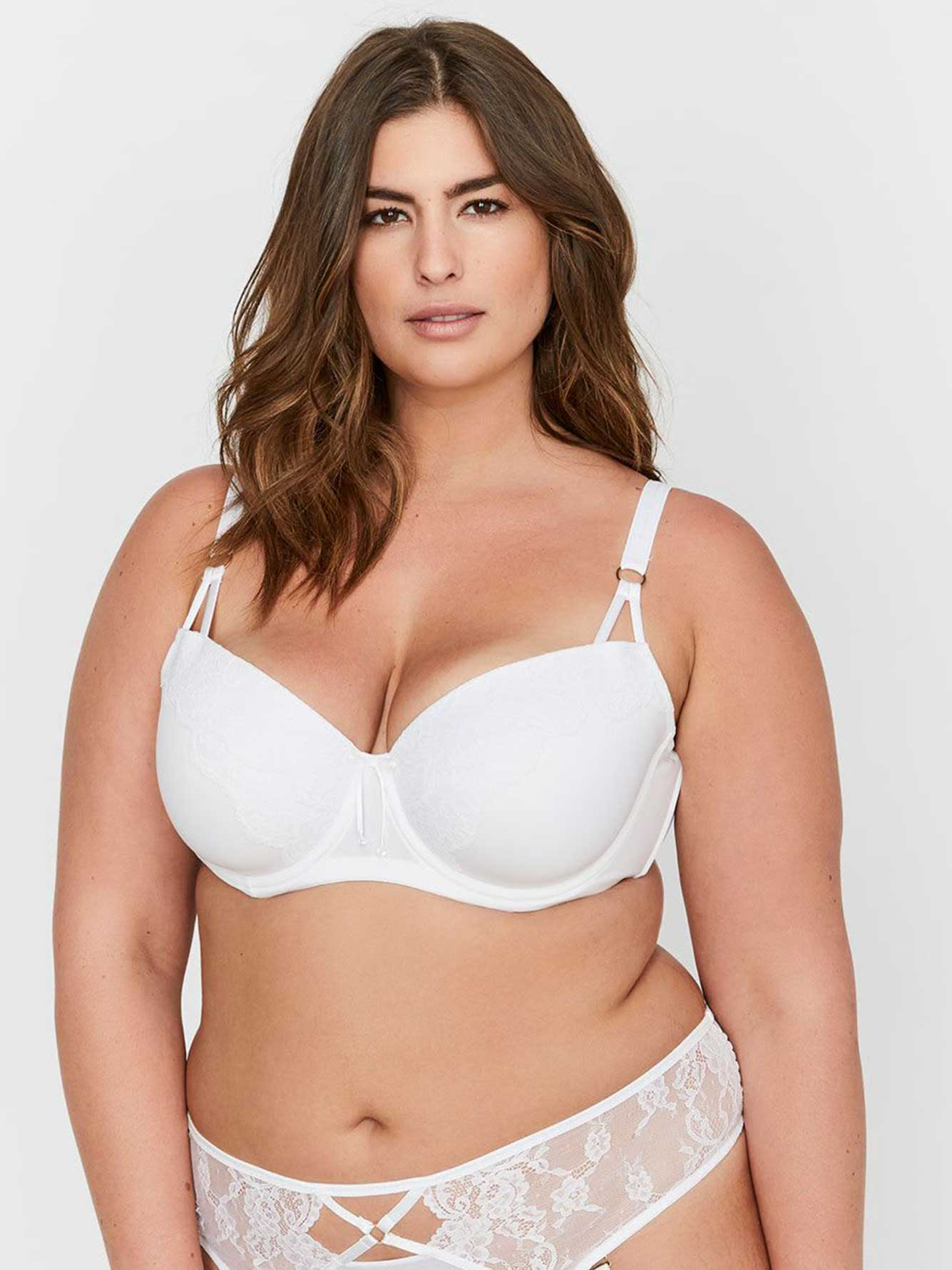 8098d8545 Ashley Graham Lace and Thin Micro Fiber Showstopper Bra | Addition Elle