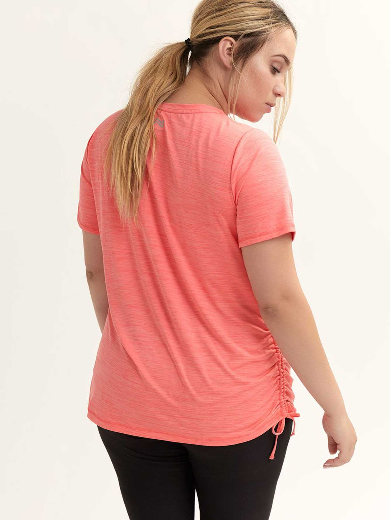 Essential V-Neck Tee with Side Ruching - Nola