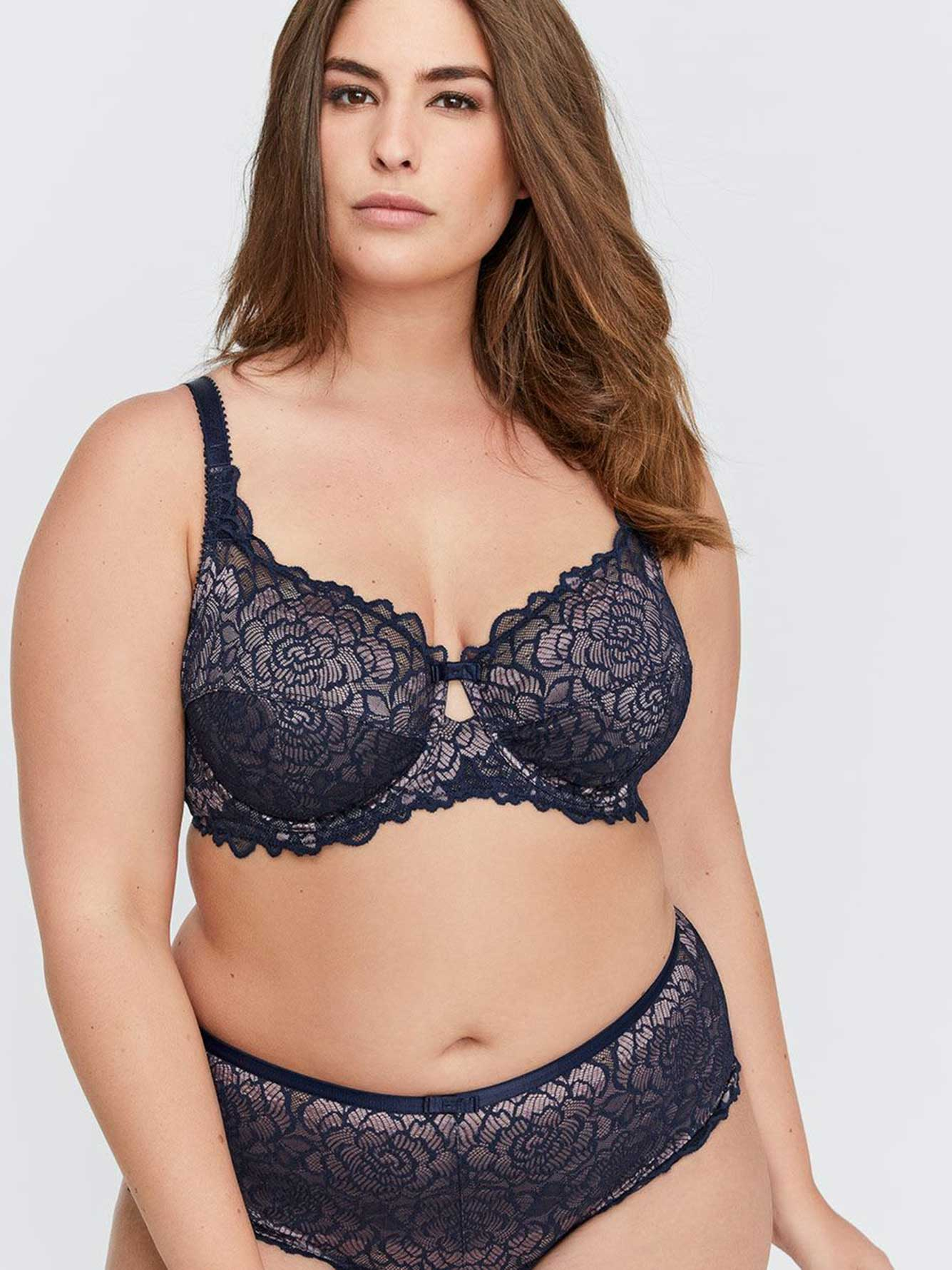 a3a8a28520 Femme Couture Cross Dyed Lace Bra - Déesse Collection
